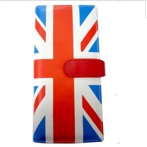 Checkbook wallet UK Flag Women ID Picture British
